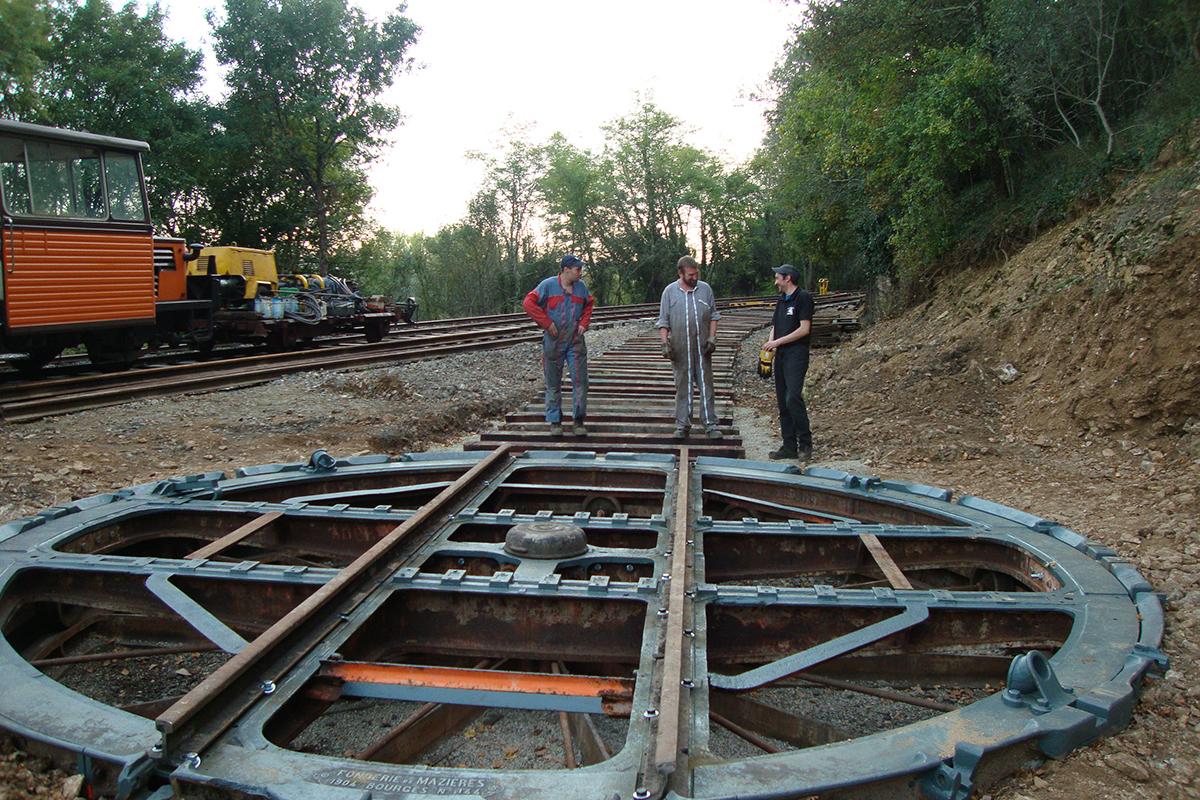 Travaux de maintenance Train à vapeur de Martel Chemin de fer Touristique